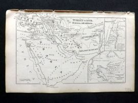 Cornwell & Dower 1849 Antique Map. Turkey in Asia, Persia & Arabia